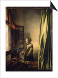 Girl Reading a Letter Prints by Jan Vermeer
