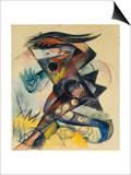 Caliban. Figure for Shakespeare's 'the Tempest', 1914 Poster by Franz Marc