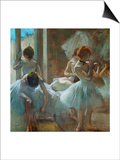 Dancers at Rest, 1884-1885 Print by Edgar Degas