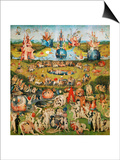 The Garden of Delights, Triptych, Center Panel Posters by Hieronymus Bosch
