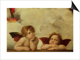The Two Angels Prints by  Raphael