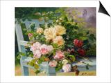 Romantic Roses Posters by Eugene Henri Cauchois
