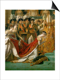 Coronation of Napoleon in Notre-Dame De Paris by Pope Pius VII, December 2, 1804 Art by Jacques-Louis David