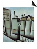 Maisons a Paris (Houses in Paris), 1911 Posters by Juan Gris