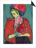 Girl with Peonies, 1909 Posters by Alexej Von Jawlensky