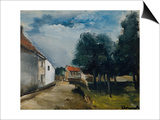 Landscape at Auvers Prints by Maurice de Vlaminck