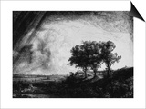 'The Three Trees', 1643 Prints by  Rembrandt van Rijn