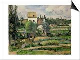 Landscape in Auvers Posters by Paul Cézanne