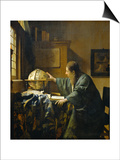 The Astronomer Posters by Jan Vermeer