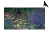 Waterlilies (Les Nympheas), Study of the Morning Water Print by Claude Monet