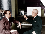 Maurice Ravel and Jacques Fevrier Poster