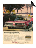 1950s USA Pontiac Magazine Advertisement Posters