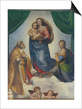 The Sistine Madonna, about 1513 Prints by  Raphael