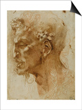 Head of a Faun Prints by  Michelangelo Buonarroti