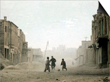 Children Play in the Old Town of Kabul, Afghanistan Print
