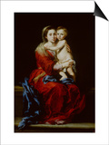 Madonna and Child or Virgin of the Rosary Posters by Bartolome Esteban Murillo