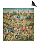The Garden of Earthly Delights. Central Panel of Triptych Print by Hieronymus Bosch