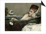 The Bath, also Said the Woman in the Bath or Shower Print by Alfred Emile Léopold Stevens