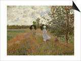Promenade Near Argenteuil, 1873 Posters by Claude Monet