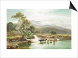 Cader Idris from the River Mawddach Art by Sidney Richard Percy