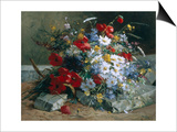 Daisies, Cornflowers Anf Poppies Posters by Eugene Henri Cauchois