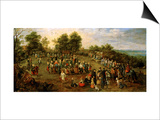 Folk Dance Before the Archdukes Posters by Jan Brueghel the Elder