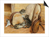 Kittens Playing Art by Frank Paton