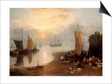 Sun Rising Through Vapour: Fishermen Cleaning and Selling Fish Prints by J. M. W. Turner