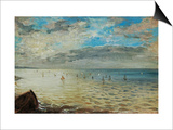 The Sea Seen from Dieppe, Ca Prints by Eugene Delacroix