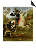 Saint George and the Dragon Prints by  Raphael