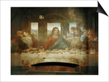 Last Supper, Detail of Christ with Apostles, 1498 Prints by  Leonardo da Vinci