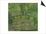 Waterlily Pond, Green Harmony, 1899 Poster by Claude Monet