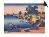 Clair de lune sur la rivière Sumida à Edo Posters by Katsushika Hokusai