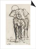 Etude d'éléphant Posters by Gustave Moreau