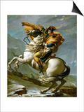 Bonaparte Crossing the Great Saint Bernard Pass, 1801 Posters by Jacques-Louis David