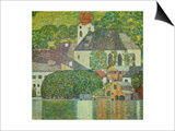 Kirche in Unterach Am Attersee, Church in Unterach on Attersee Prints by Gustav Klimt