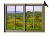View from the Window at Castiglione D'Orcia Posters by Anna Siena