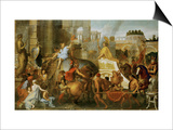 Alexander the Great Enters Babylon Prints by Charles Le Brun