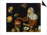 An Old Woman Frying Eggs Poster by Diego Velázquez
