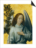 Angel Holding an Olive Branch, Symbol of Divine Peace Art by Hans Memling
