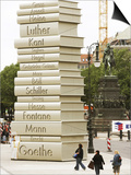 "Visitors Look at a Sculpture Erected by the Initiative ""Germany - Land of Ideas"" Posters"