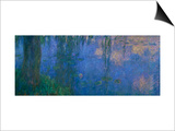 Waterlilies, Morning with Willows Art by Claude Monet