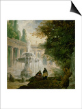 Park with Fountain, 1762-1765 Prints by Hubert Robert