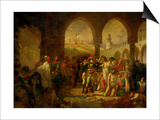 Bonaparte Visits the Plague-Ridden of Jaffa, Painted 1804 Posters by Antoine-Jean Gros