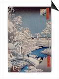 Le pont Taiko et la colline Yûshi à Meguro Posters by Ando Hiroshige