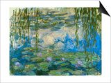 Waterlilies, 1916-1919 Poster by Claude Monet