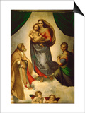 Sistine Madonna, Painted for Pope Julius II as His Present to City of Piacenza, Italy, 1512-1513 Posters by  Raphael