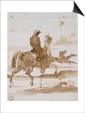 Etude de chevaux et jockeys Posters by Gustave Moreau