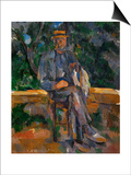 Seated Man, 1905-1906 Art by Paul Cézanne