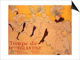 La Troupe De Mlle. Eglantine Art by Henri de Toulouse-Lautrec